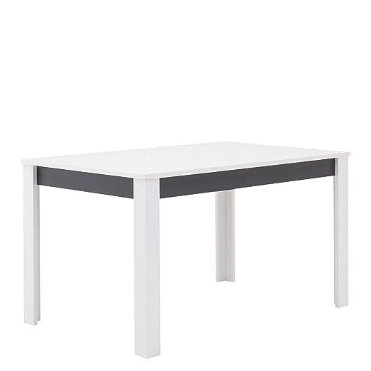 GINA Mesa de Comedor Extensible con extensión en Color Blanco y ...