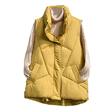 KCatsy Mujer Gillet Chalequillo Chaquetas Puffer Acolchados ...