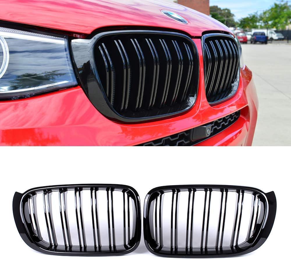 BMW F25 X3 10-14 M Performance Front Matte Black Kidney Grilles Calandre Grills