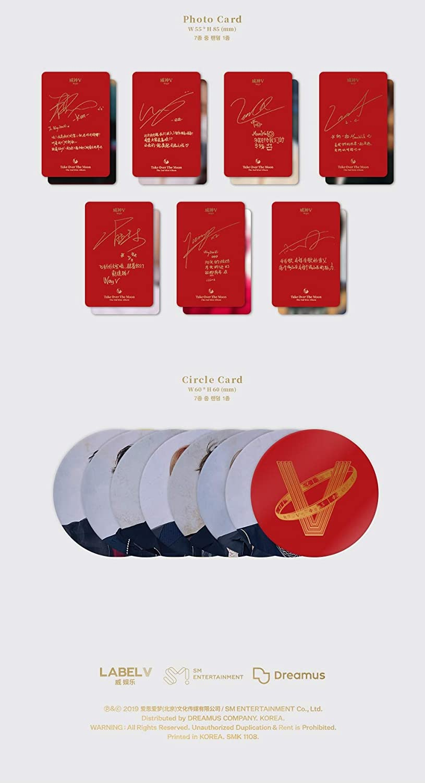 2nd Mini Album Take Over The Moon LABEL V WayV CD+124p Photobook+Photocard+Circle Card+Folded Poster+Double Side Extra Photocards Set