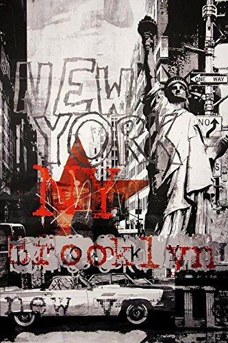 New York City Abstract Collage in Grey 36x24 Art Print Poste