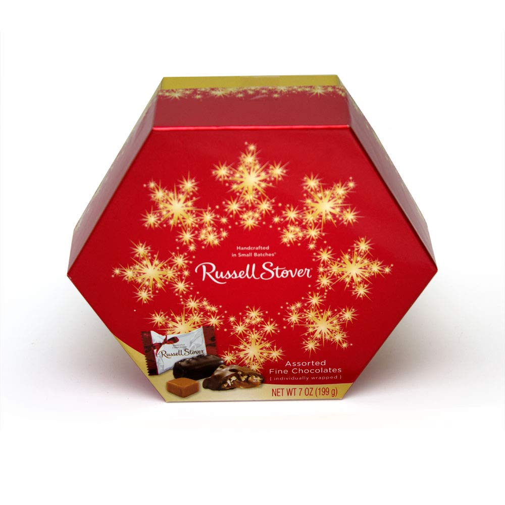 CDM product Russell Stover Assorted Chocolates Wrapped Hexagon, 7 Ounce, 6 Count big image