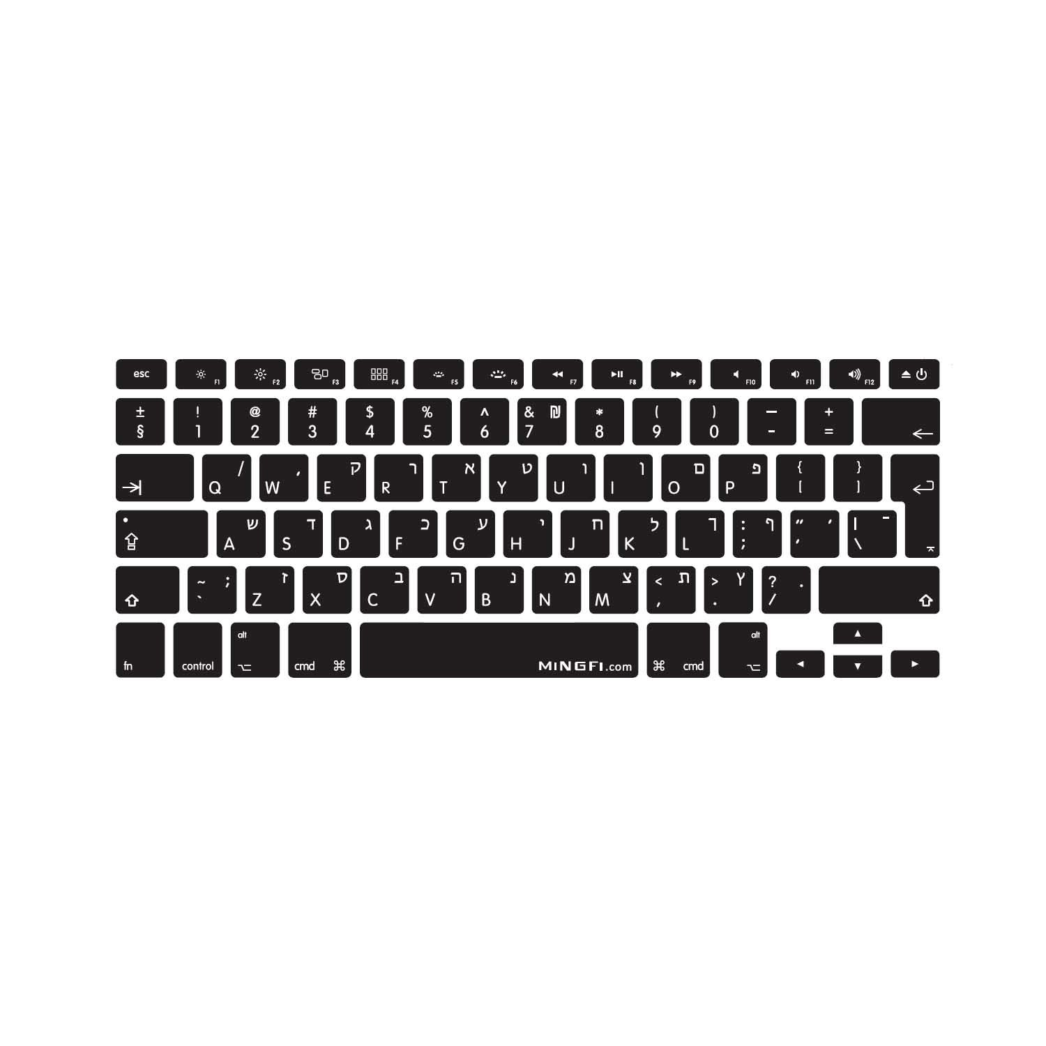 MiNGFi Norvé gien bokmå l Norwegian Clavier Coque de Protection / Couverture pour MacBook Pro 13' 15' 17' et Air 13' EU/ISO Keyboard Disposition Silicone Skin - Noir