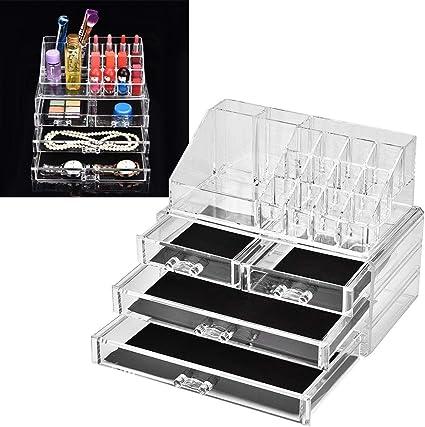 Caja de acrílico del organizador del maquillaje, caja de múltiples ...