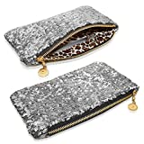 JJOnlineStore - Womens Ladies Stylish Shiny Celebrity Style Beaded Crystal Party Wedding Evening Hand Clutch Bags (Silver)