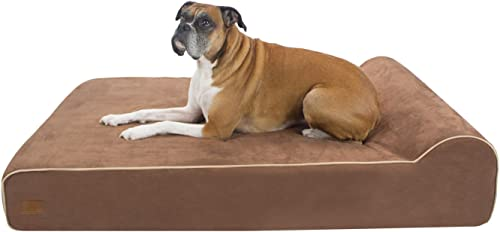 FrontPet Lux by Orthopedic Dog Bed Premium Memory Foam Dog Bed with Removable Microfiber Machine Washable Slipcover