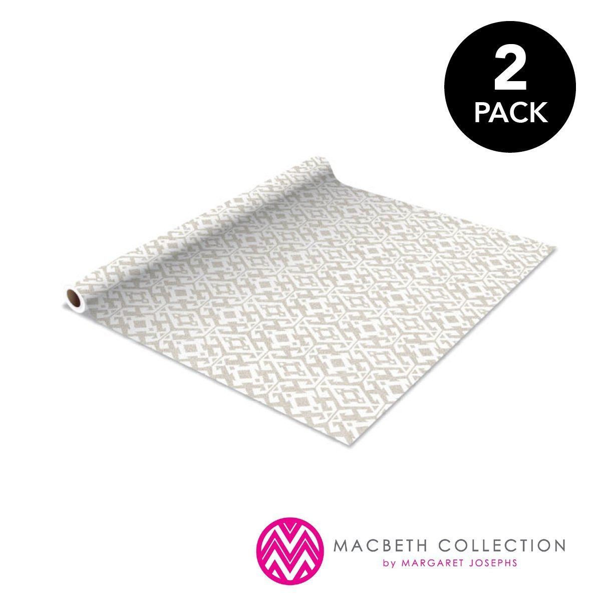 Macbeth Collection Self-Adhesive Shelf Liner, 2-Pack, Courtney Dove Gray Kennedy Home Collection SYNCHKG126554