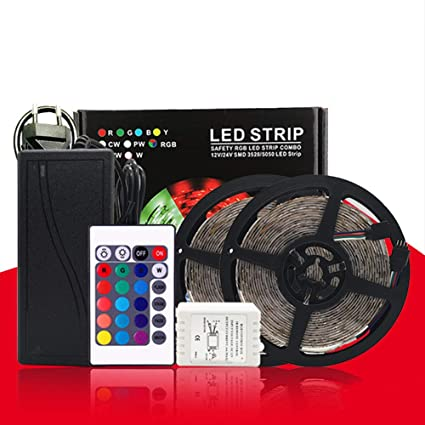 TABEN Tira de luces LED flexibles, 300 ledes, 5 m, impermeable ...