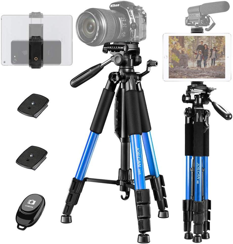 WAWRR Travel Camera Tripod,Lightweight Aluminum Micro Single SLR Camera Tripod Portable Photography Live Mobile Phone Tripod PTZ