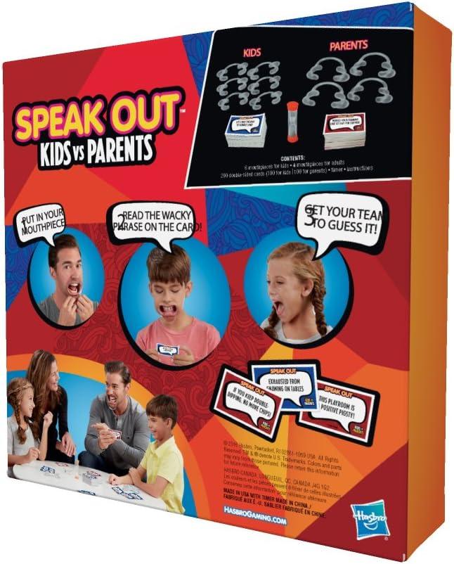 Hasbro C3145 Speak out Kids vs Padres Juego: Amazon.es: Juguetes y juegos