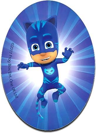 PJ Masks Héroes en pijamas Catboy Disney - Parches termoadhesivos bordados aplique para ropa, tamaño: 11 x 8 cm
