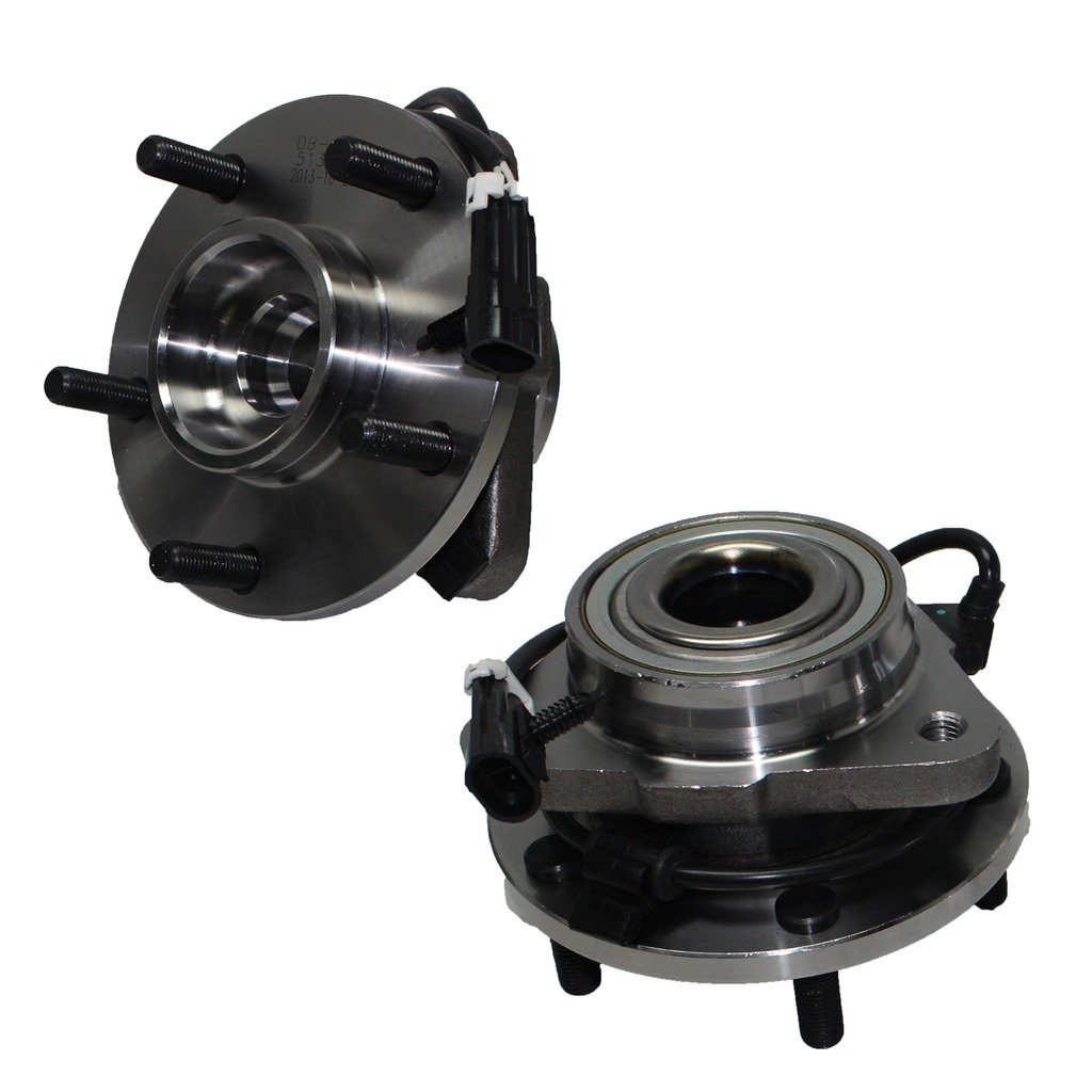 Detroit Axle - Pair of Brand New Front Wheel Hub and Bearing Assemblies for 2WD 98-05 Jimmy and Blazer