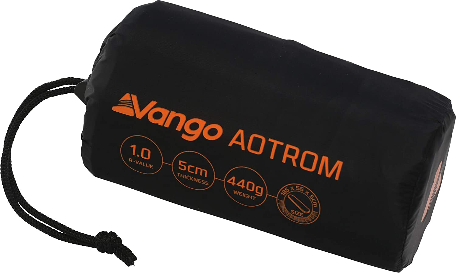 Vango Aotrom 5 cm Trek Single Sleeping Mat Antracita Negro