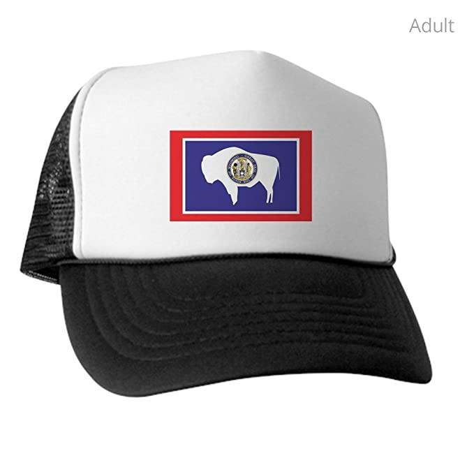 Amazon.com  CafePress - Wyoming State Flag - Trucker Hat 5fd7b1dd3