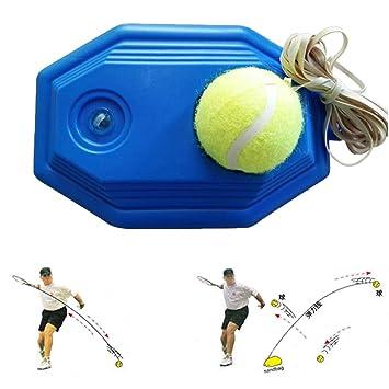 grofitness pelota de tenis máquina de rebote tenis Trainer Set para principiantes: Amazon.es: Deportes y aire libre