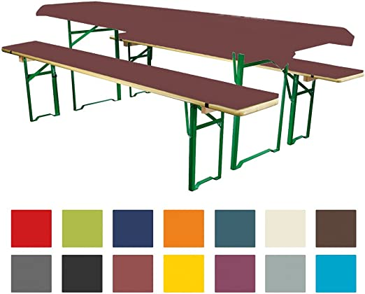 Juego de 3 fundas para mesa y banco plegables Comfort, XS: Amazon ...