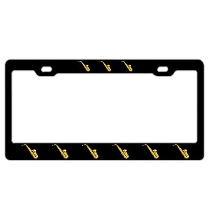 Saxophone I/'d rather be playing my license plate frame tag holder