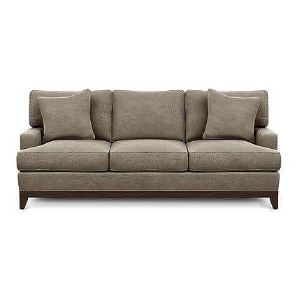 Beau Ethan Allen Arcata Sofa, 87u0026quot; Sofa, Palmer Fog Chenille Fabric