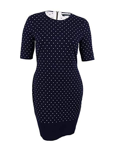 440afe44cdf Image Unavailable. Image not available for. Color  Lauren Ralph Lauren  Womens Large Polka Dot Sweater Dress ...