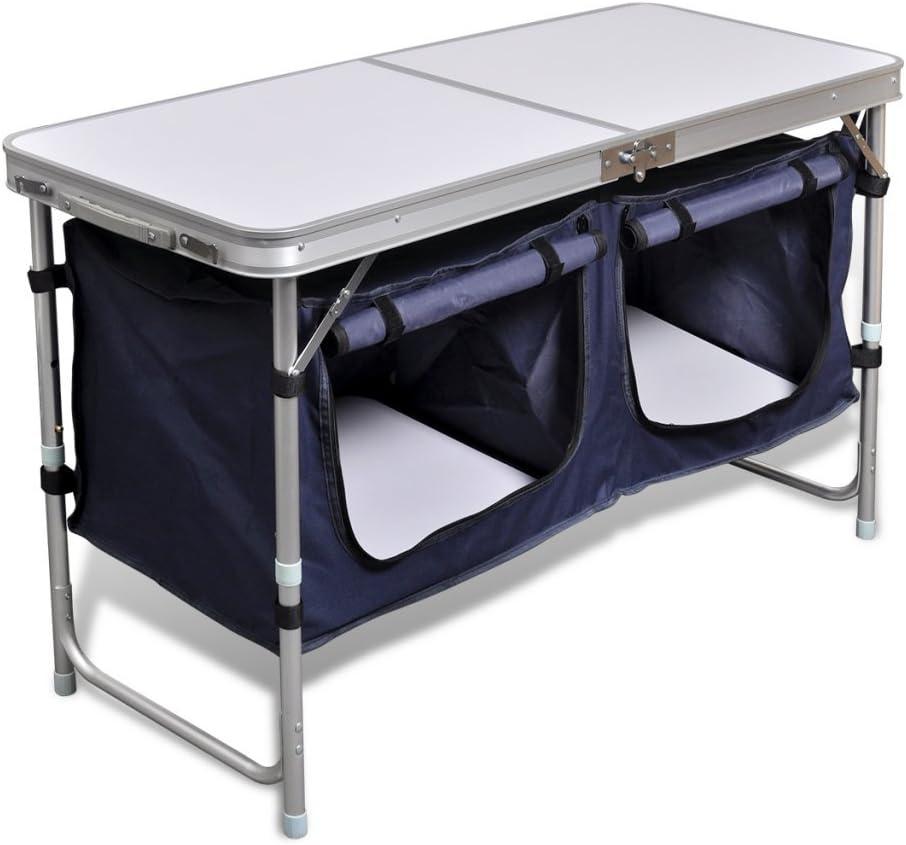 Anself Armario Plegable para Camping con Marco de Aluminio