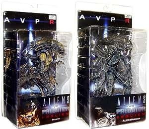 """Alien Vs. Predator: Requiem 7"""" Figure Series 1 Set of 2 : Alien Warrior, Hybrid"""
