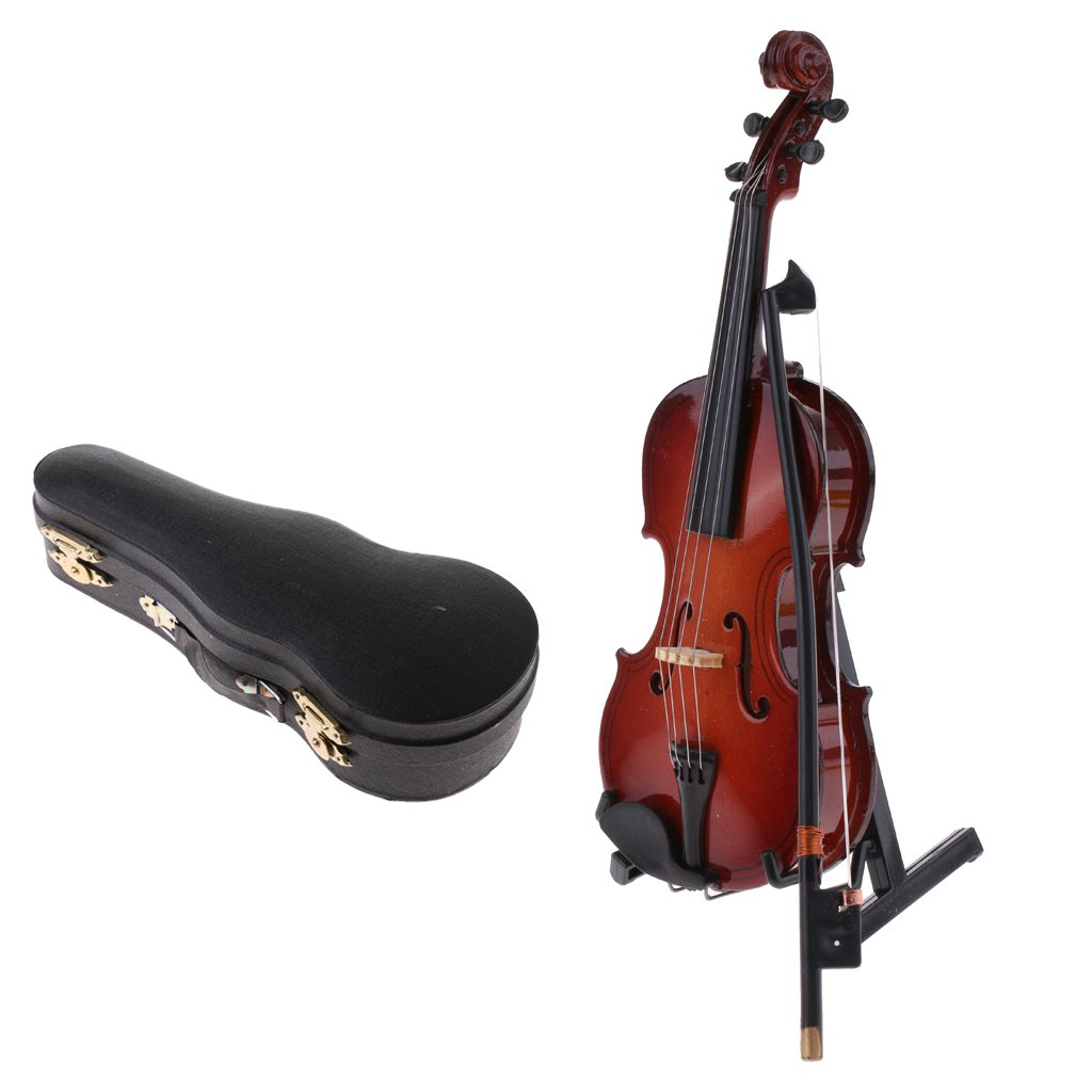MonkeyJack 1/6 Scale Action Figures Dollhouse Accessory Wooden Violin Model Miniature Musical Instrument for Hot Toys