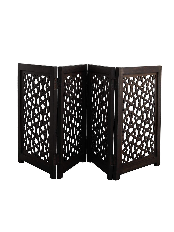 Artesia Freestanding Wood Pet Gate Dog Gate - 4 Panel Expansion Small Size
