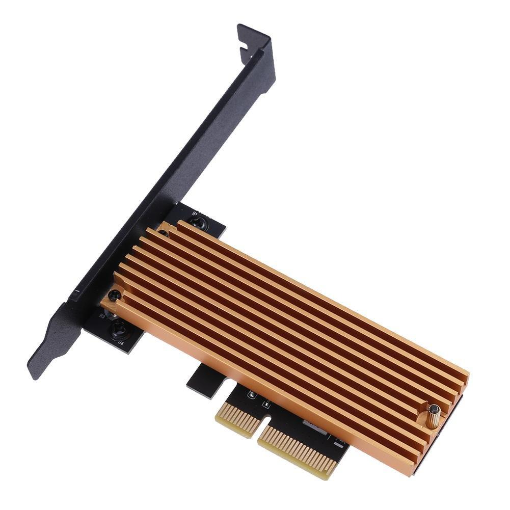 prettygood7 Transfert de donné es et de Chargement Extender Cord câ ble Riser Adaptateur NGFF M.2 Key M SSD vers PCI-E 4 x Carte Adaptateur avec dissipateur Thermique Ordinateur Adaptateur