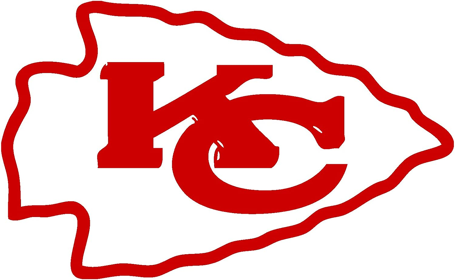 TDT Printing & Custom Decals Kansas City Chiefs Vinyl Sticker for Car or Truck Windows, Laptops etc.