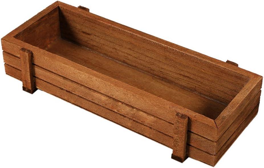 Jardinera de madera rectangular: Amazon.es: Jardín