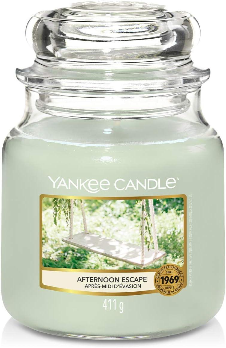 Apr/ès-midi d/évasion Yankee Candle Bougies Chauffe-Plat Parfum/ées Bo/îte de 12 Lumignons La Collection Garden Hideaway