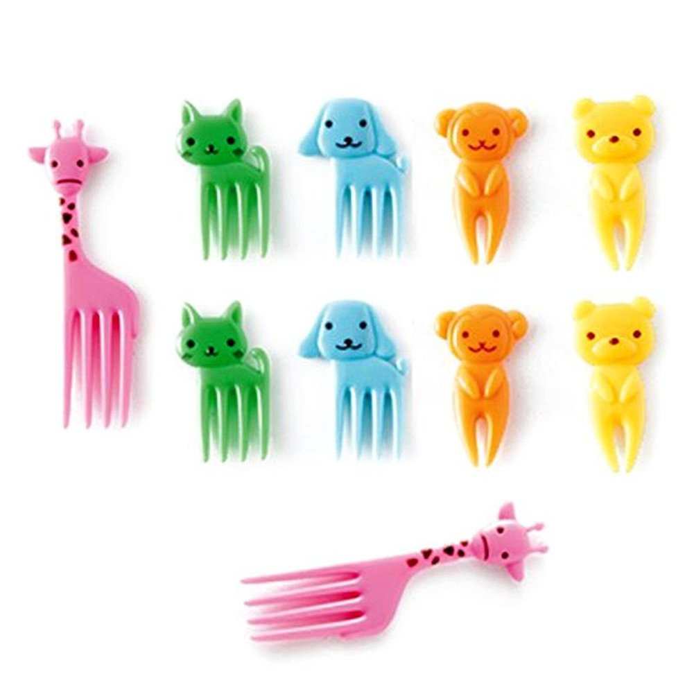 Animal Manor Cute Mini Children Fruit Fork Creative Plastic Elephant R & R Enterprises