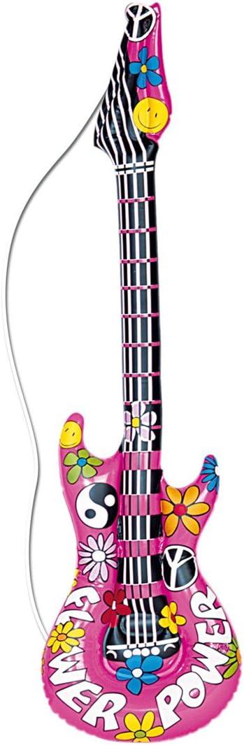 Guitare gonflable décorative hippie 105 cm Guitare à gonfler ...