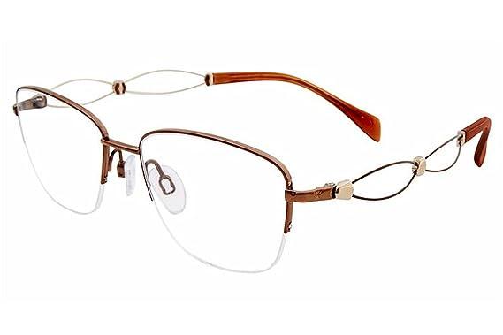 5b572dd7d Charmant Line Art Women's Eyeglasses XL2106 XL/2106 BR Brown Optical Frame  51mm