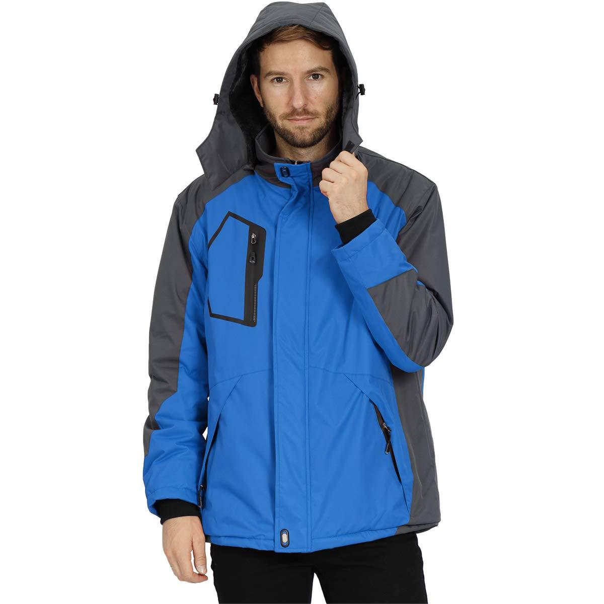 Mens Snow Jacket Waterproof Ski Jackets Windproof Mountain Rain Jacket