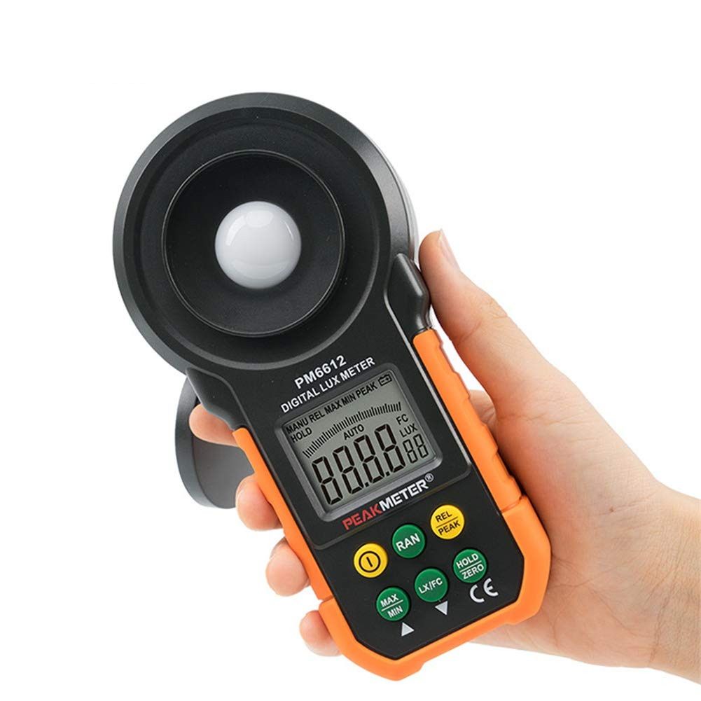 Digital Illuminance Meter, Portable The Versatile Illuminance Meter, Auto Range, Manual Range, Auto Power Off, Used for Photography, Office Or Home Use by fang zhou