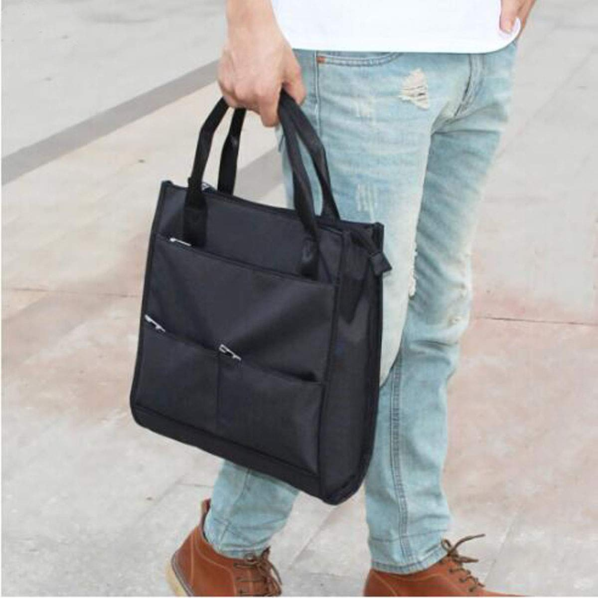 Yougou01 Briefcase Color : Black Size: 32930cm Quality Assured Suitable for Work Simple Mens Nylon Casual Crossbody Bag Business Travel Waterproof and Wearable