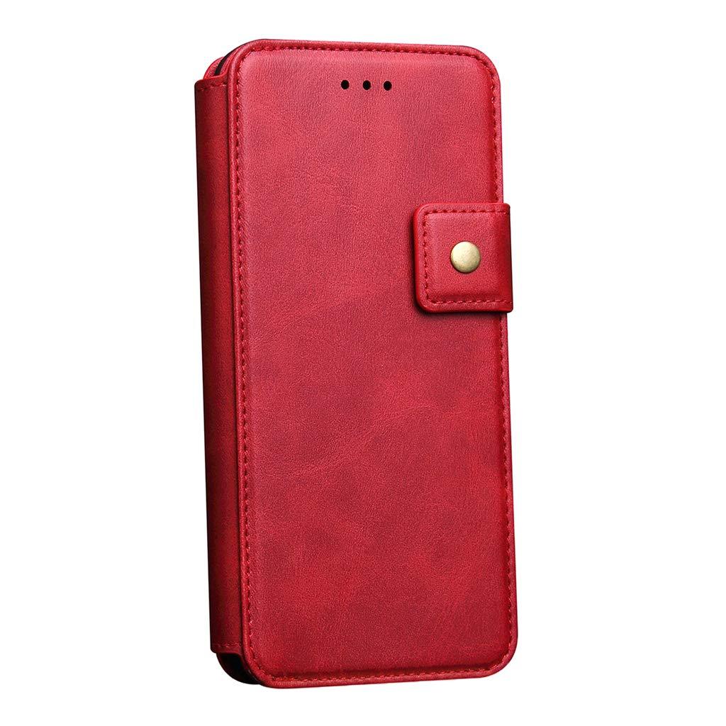 SM SunniMix 携帯電話保護フリップ財布ケース クレジットカードホルダースロット付き iPhone X/Xs用, レッド, d4a870f7022fa6b3f820e4d173c677a2 B07PFCRXQX レッド