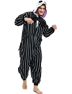 293b1fa171 The Nightmare Before Christmas Jack Skellington Skeleton Romper Adult Men  Women Unisex Animal Kigurumi Cosplay Pajamas ...