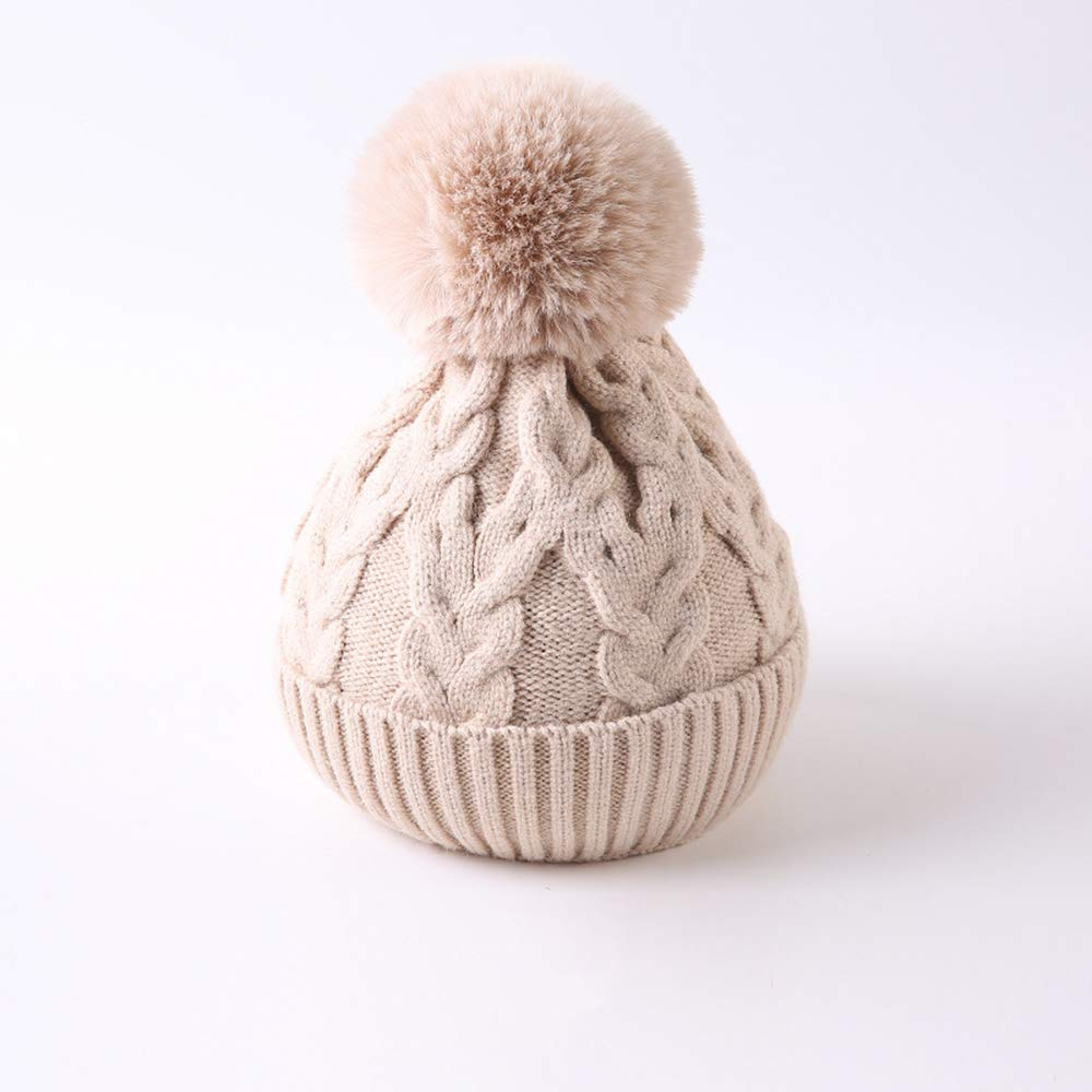 Autumn and winter children, children's baby wool knit hat hemp pattern,beige