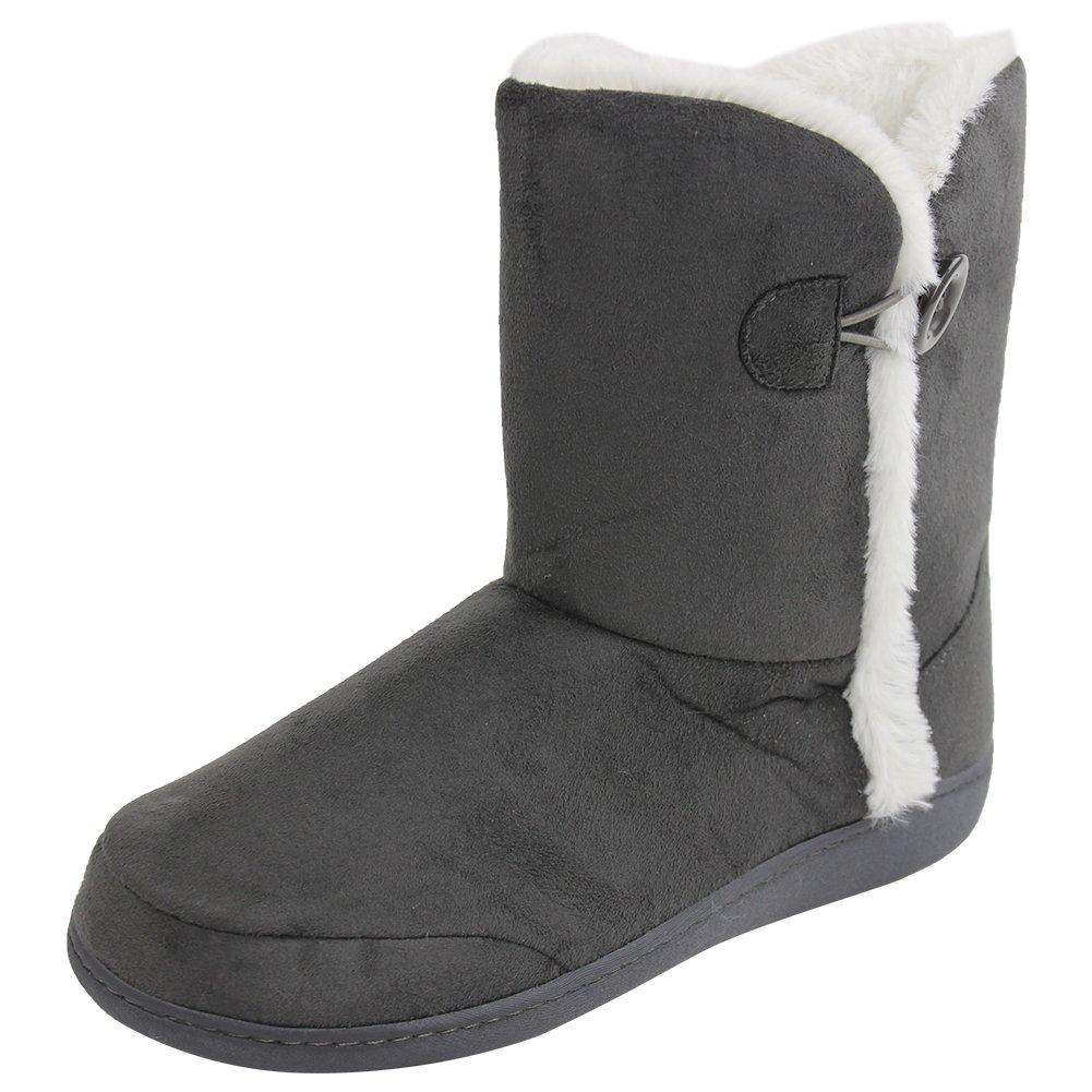 Home Slipper Women's Girl's Super Soft Warm Cotton Memory Foam Cozy Anti-Slip Slide-In Indoor Bedroom Home Short Boots Shoes,US 9/10
