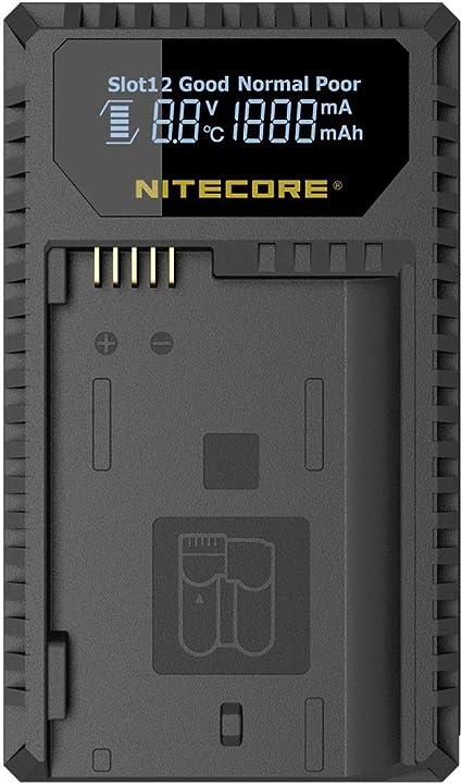 Nitecore Unk1 Dual Slot Usb Ladegerät Mit Lcd Display Kamera