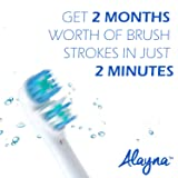 Alayna Replacement Brush Heads Compatible With Oral B Electric Toothbrush - Dual Clean Generic Brushes Fits Oralb Braun Pro 1000, Oral-B 7000, 8000, 9000, 1500, 5000, 6000, 3000, For Kids