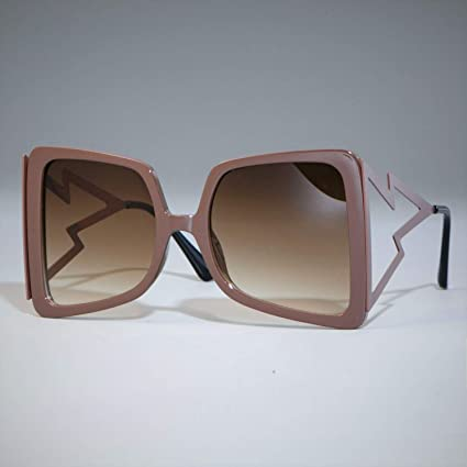 Amazon.com: Oversized Sunglasses for Women Big Wide Temple ...