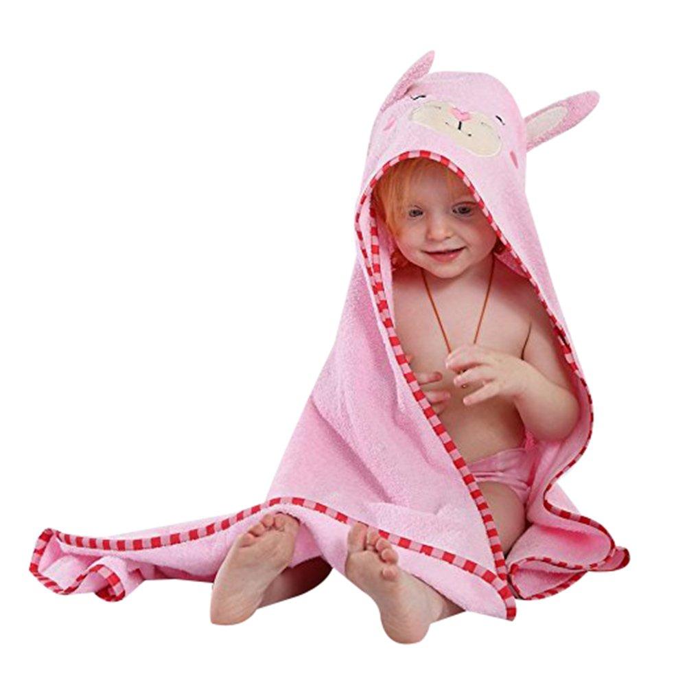 Baby Boys Girls 0-6 Years Animal Design Bathrobe Cute Hooded Sleepwear Bath Towel