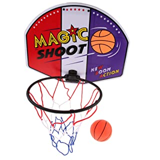 P Prettyia Mini Canestro da Basket per Uso Domestico - Basketball Time Sospensione A Muro Standard - M