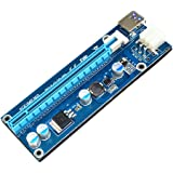 Rrimin USB 3.0 PCI-E Express 1x Extender Riser Card Adapter 6PIN Power Cable 30CM (117753)