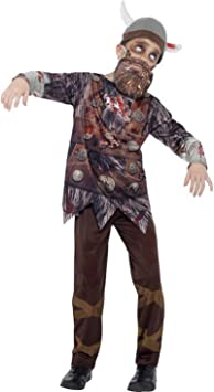 costumebakery – Disfraz Infantil Zombie Vikingo con 3D Impresión ...