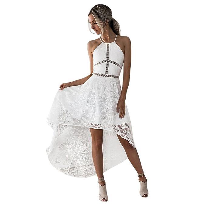 Kinlene Vestidos Sexy Elegante Mujer Verano 2018, Las Mujeres Color Sólido Encaje Sling Chaleco Jumpsuits Mini Vestido: Amazon.es: Ropa y accesorios