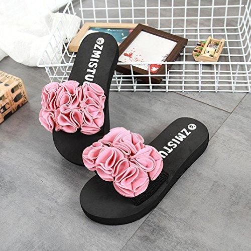 Slipper Fiori Sandalo Estivi Sandali Outdoor Indoor Flop Rosa Spiaggia Scarpe Flip Infradito Scarpa da con Infradito WINWINTOM di Donna 4Pg7awX